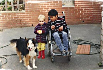 Lassie, Henry and Nev, circa 1986